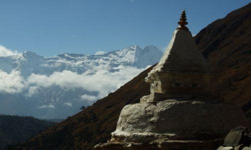 Zdjecie NEPAL / brak / Park Narodowy Sagarmatha / czorten