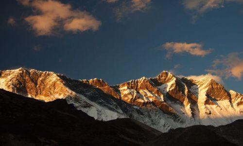 Zdjecie NEPAL / brak / Park Narodowy Sagarmatha / zachód słońca