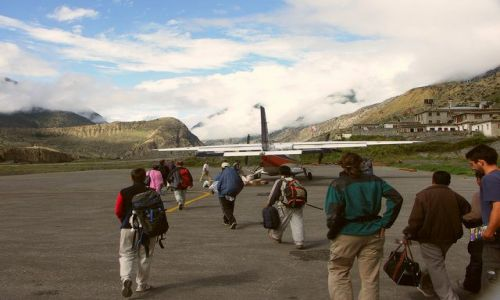 Zdjecie NEPAL / Annapurna Trek / Jomsom Airport / Powrót do Pokha