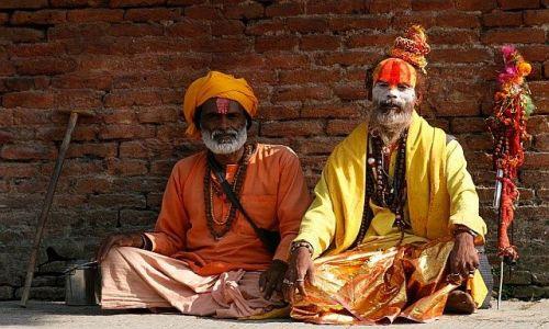 Zdjecie NEPAL / Kathmandu / Pasupatinath / sadhu