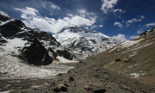 NEPAL / - / Widok na Dhaulagiri z drogi na French Pass / Pod chmurami