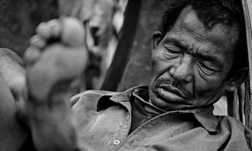Zdjecie NEPAL / Kathmandu / Kathmandu Thamel / Zmęczony