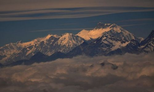 NEPAL / Laurebina / Gosainkund / Laurebina wys. ok. 4200m / Annapurna II 7937m