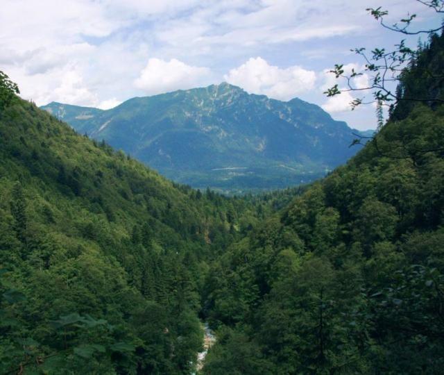 Zdjęcia: Höllentalklamm, Bawaria, Dolina Höllentalklamm, NIEMCY
