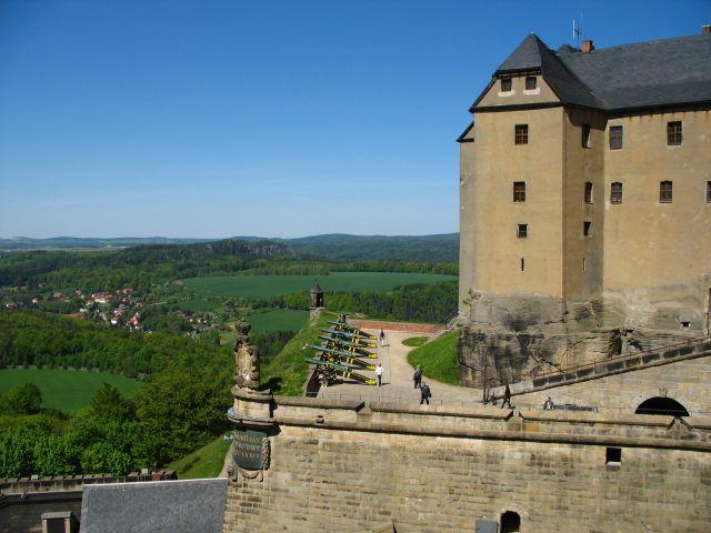 Zdjęcia: Konigstein, Saksonia, twierdza, NIEMCY