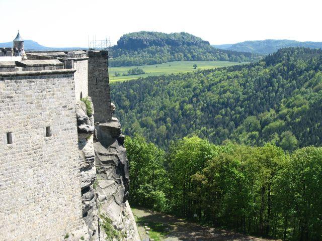 Zdjęcia: Konigstein, Saksonia, widok z wysokich murów twierdzy, NIEMCY