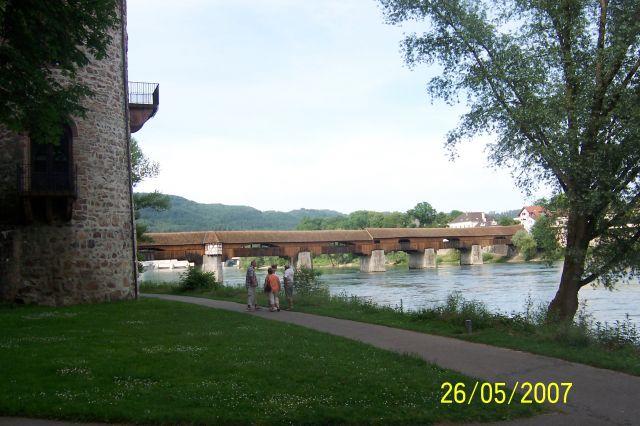 Zdjęcia: bad Sackingen, Schwarzwald, Najdłuższy most drewnioany w Europie, NIEMCY