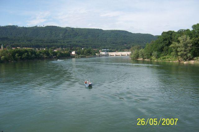 Zdjęcia: bad Sackingen, Schwarzwald, Widok z mostu na Ren, NIEMCY