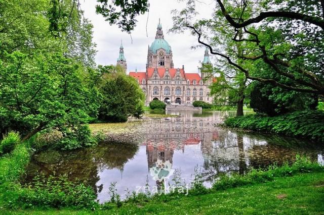 Zdjęcia: Hanower, Dolna Saksonia, Nowy ratusz w Hanowerze, NIEMCY
