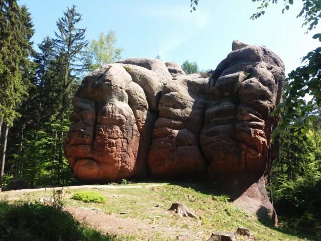 Zdjęcia: Oybin, Góry Żytawskie, Kamienne kielichy, NIEMCY