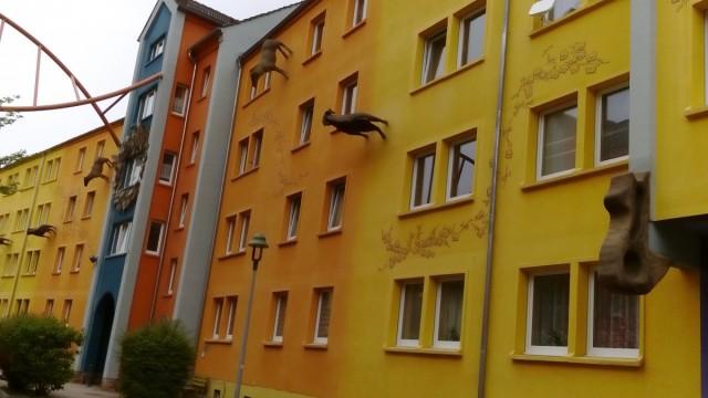 Zdjęcia: Źytawa, Góry Żytawskie, Dzielnica Pop-Art w Żytawie, NIEMCY