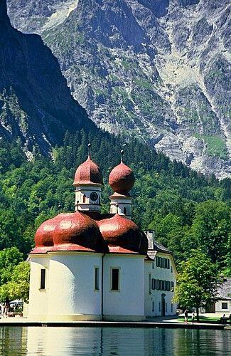 Zdjęcia: Park Narodowy Berchtesgaden, Górna Bawaria, Kościółek z pocztówek, NIEMCY