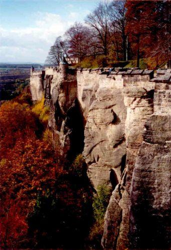 Zdjęcia: Königstein, Saksonia, zamek nad Łabą, NIEMCY