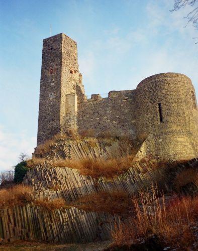 Zdjęcia: Stolpen, Saksonia, zamek na kolumnach, NIEMCY