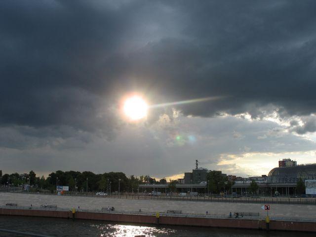 Zdjęcia: nad Szprewą, Berlin, zachód słonca, NIEMCY