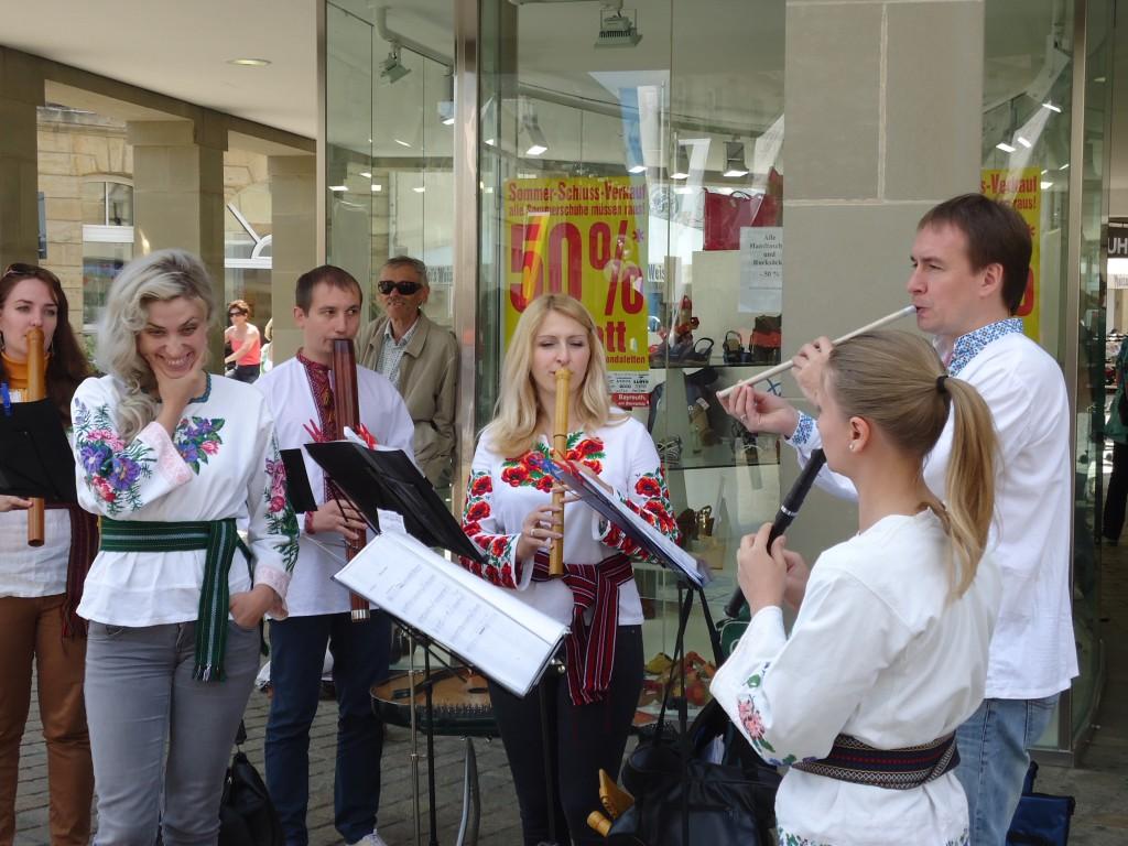 Zdjęcia: Bayreuth, Bawaria (Frankonia), Uliczne muzykowanie, NIEMCY