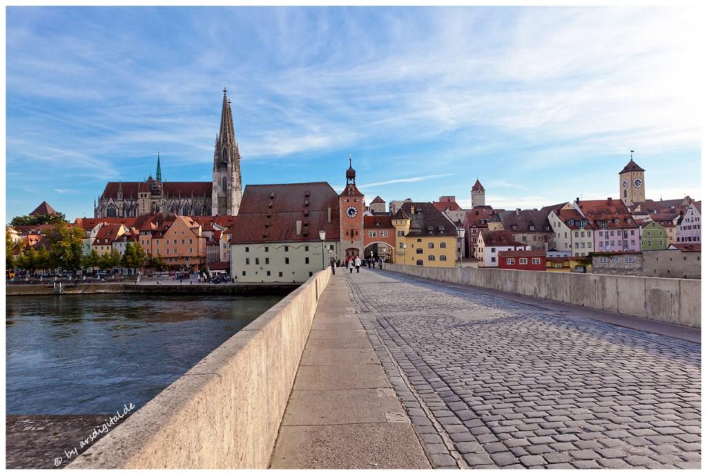 Zdjęcia: Regensburg, Bayern, Steinerne Brücke, NIEMCY