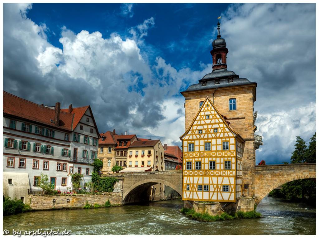 Zdjęcia: Bamberg, Franken, Am alten Rathaus, NIEMCY