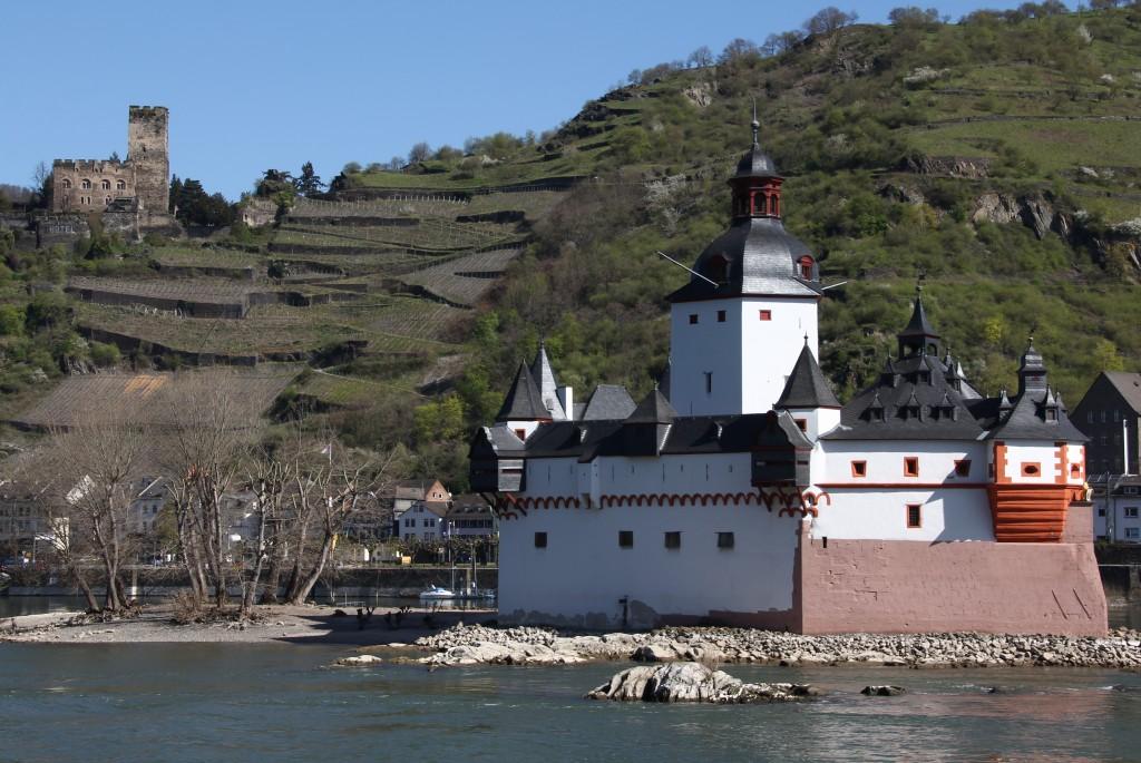 Zdjęcia: Zamek i strażnica Kaub, Nadrenia, Bajkowy zamek 4, NIEMCY