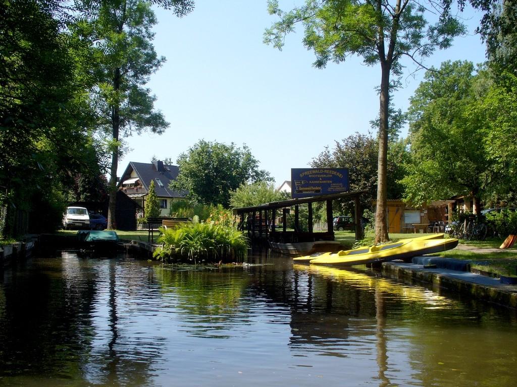 Zdjęcia: Spreewald, Szprewaldzie, Odnoga kanału, NIEMCY