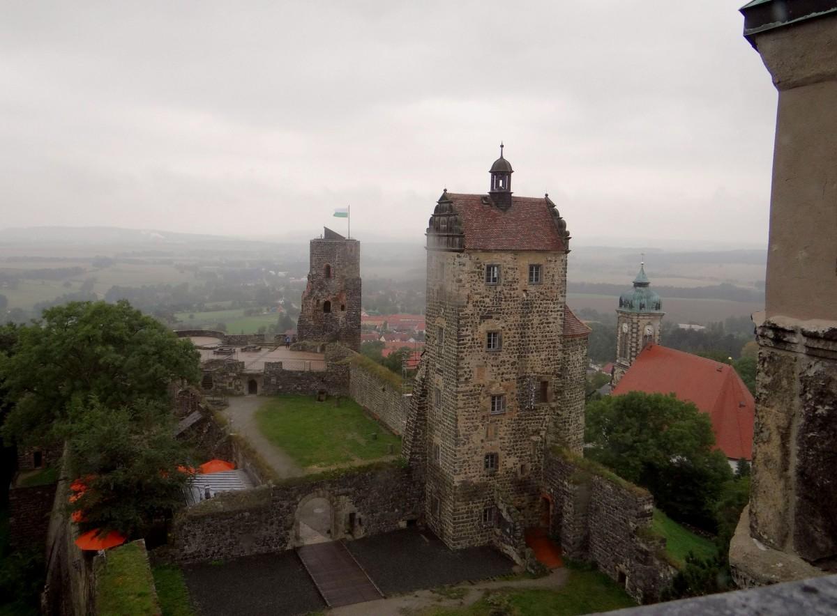 Zdjęcia: Stolpen, Saksonia, szary, deszczowy dzień na zamku w Stolpen, NIEMCY