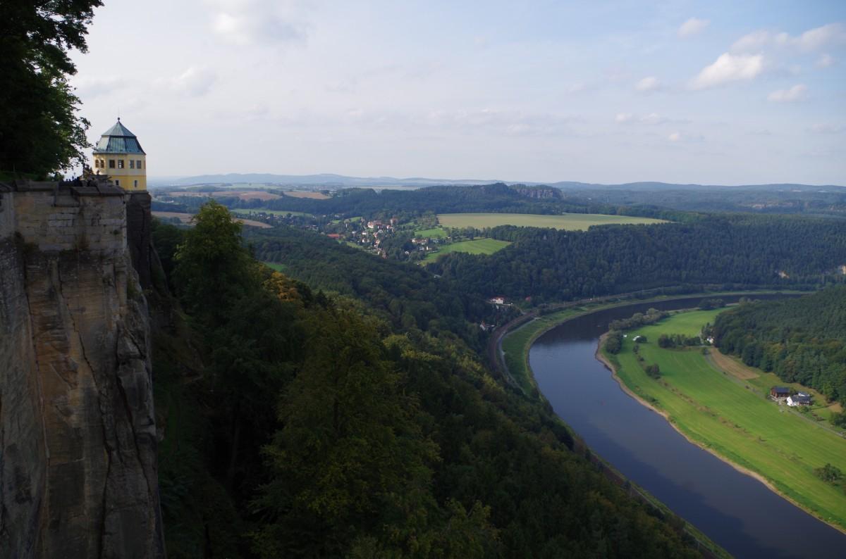 Zdjęcia: Königstein, Saksonia , - widok z twierdzy  -, NIEMCY