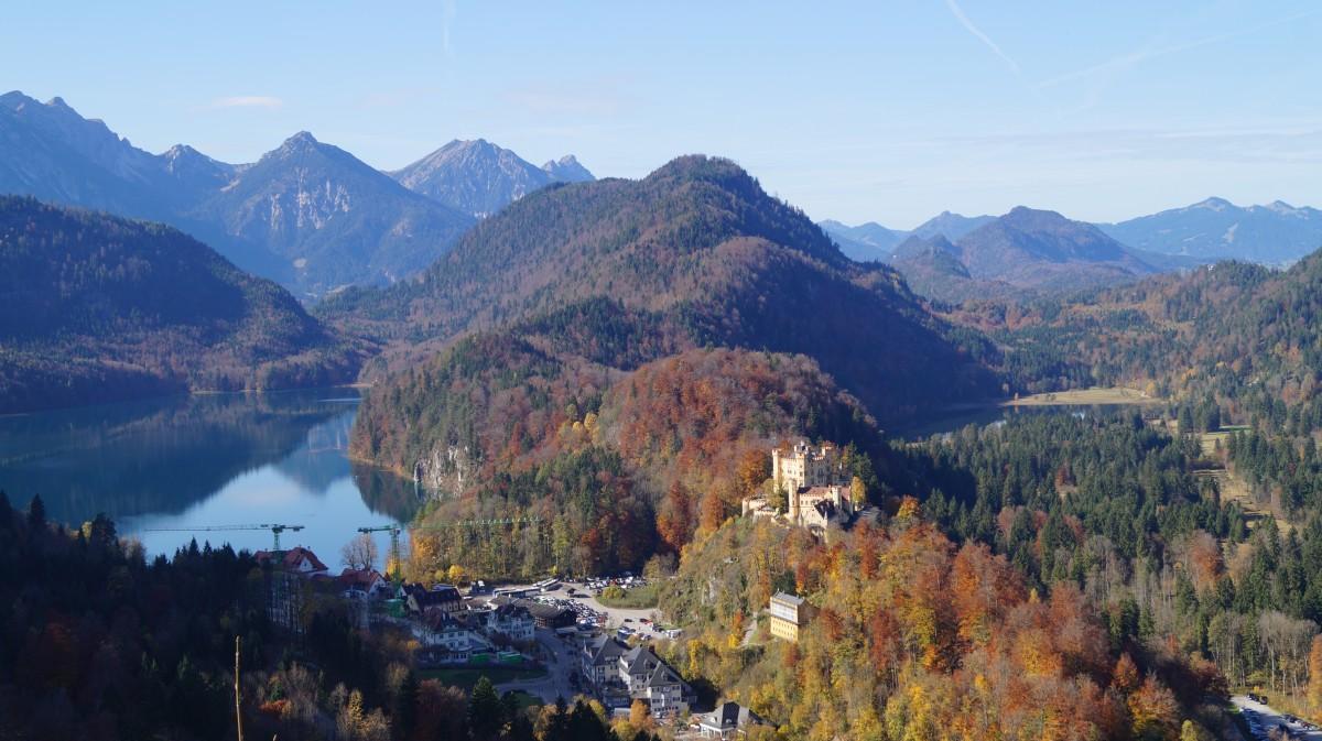 Zdjęcia: Neuschwanstein, Bawaria, widok bajkowy, NIEMCY