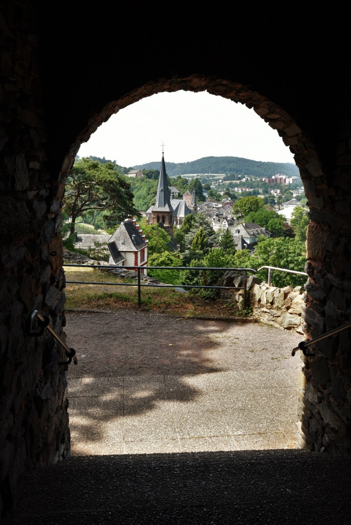 Zdjęcia: Saarburg, Nadrenia Pallatynat, Saarburg, widok z zamku, NIEMCY