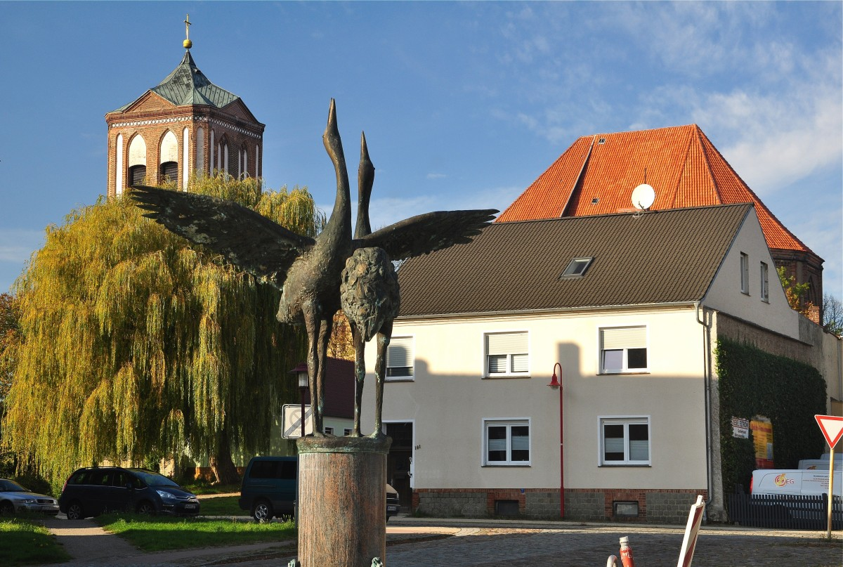 Zdjęcia: Gartz (Oder), Brandenburgia, Dawny rynek w Gardźcu Odrzańskim / Markt, Gartz (Oder), NIEMCY