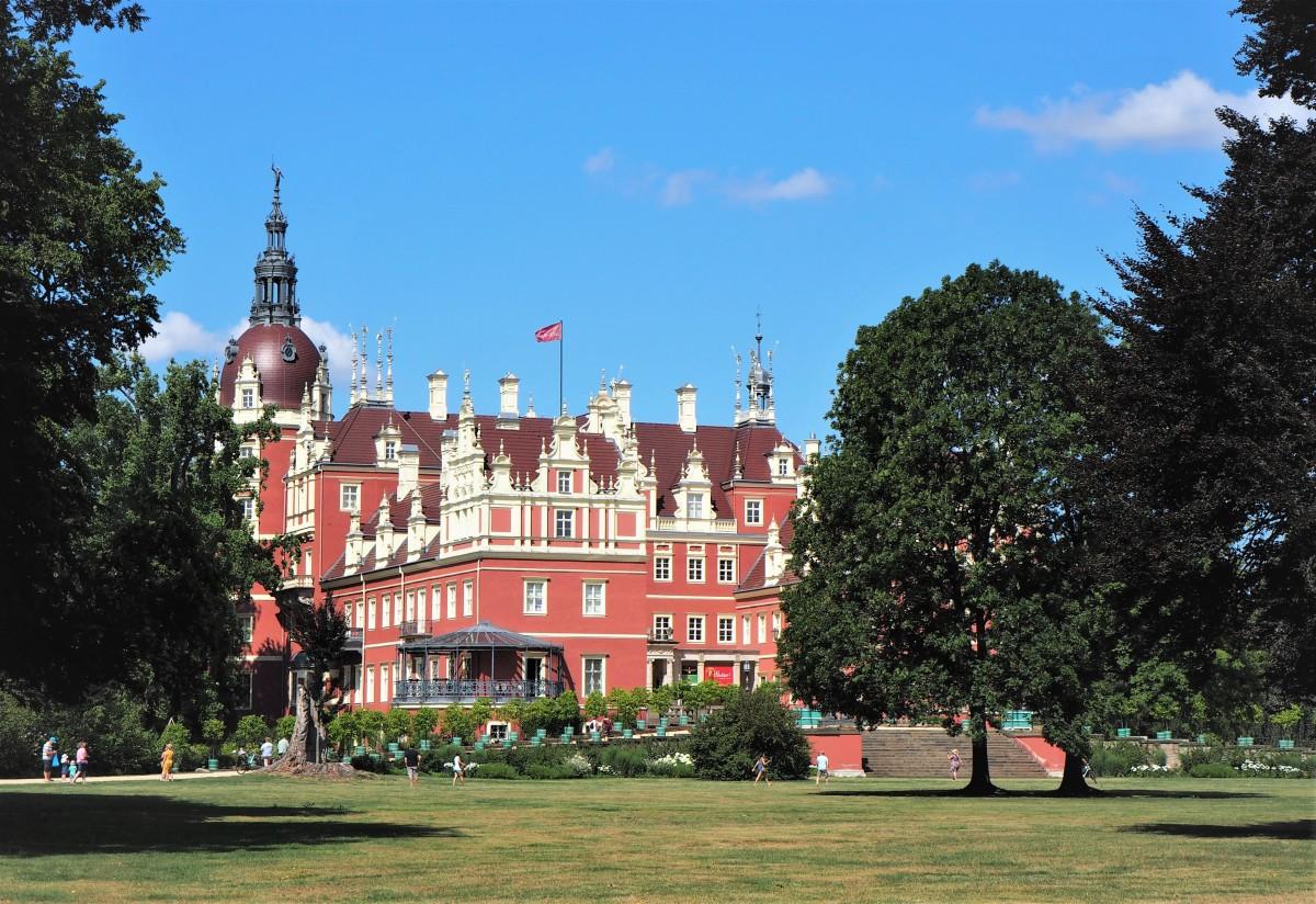 Zdjęcia: Bad Muskau, Nowy Zamek, Brandenburgia, w Parku Mużakowskim..., NIEMCY