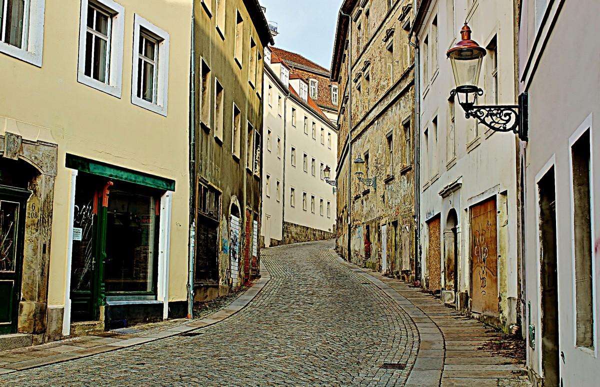 Zdjęcia: Żytawa, Saksonia, Uliczka w Żytawie, NIEMCY