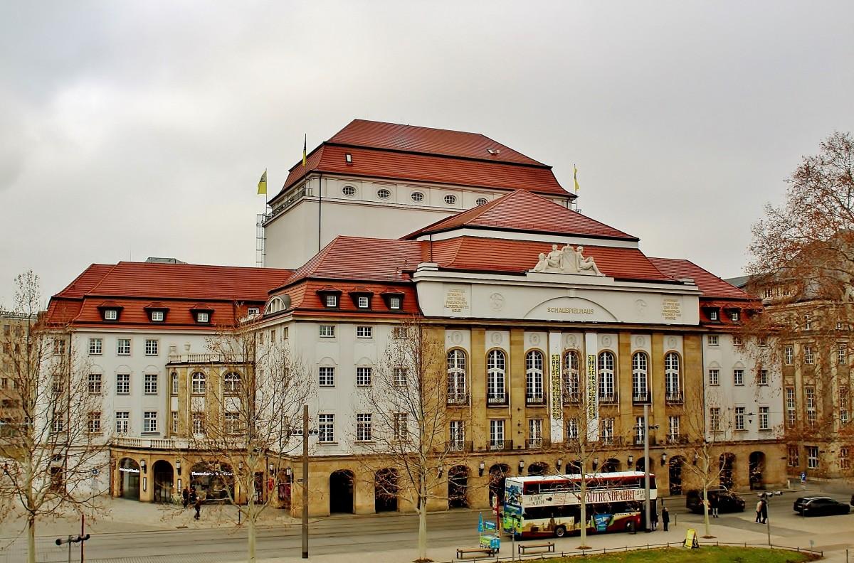 Zdjęcia: Drezno, Saksonia, Budynek teatru z 1913 roku, NIEMCY