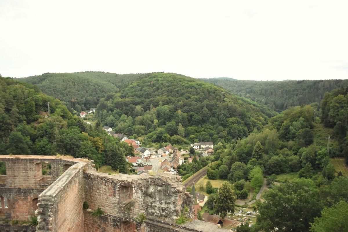 Zdjęcia: Frankenstein, Nadrenia Pallatynat, Frankenstein, zamek, panorama z zamku, NIEMCY