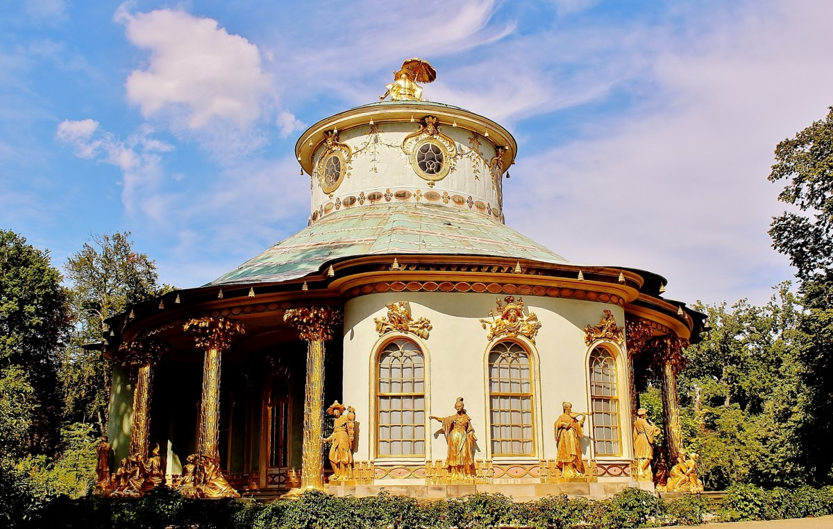 Zdjęcia: Poczdam, Brandenburgia, Pawilon chiński z 1764 roku w parku Sanssouci, NIEMCY