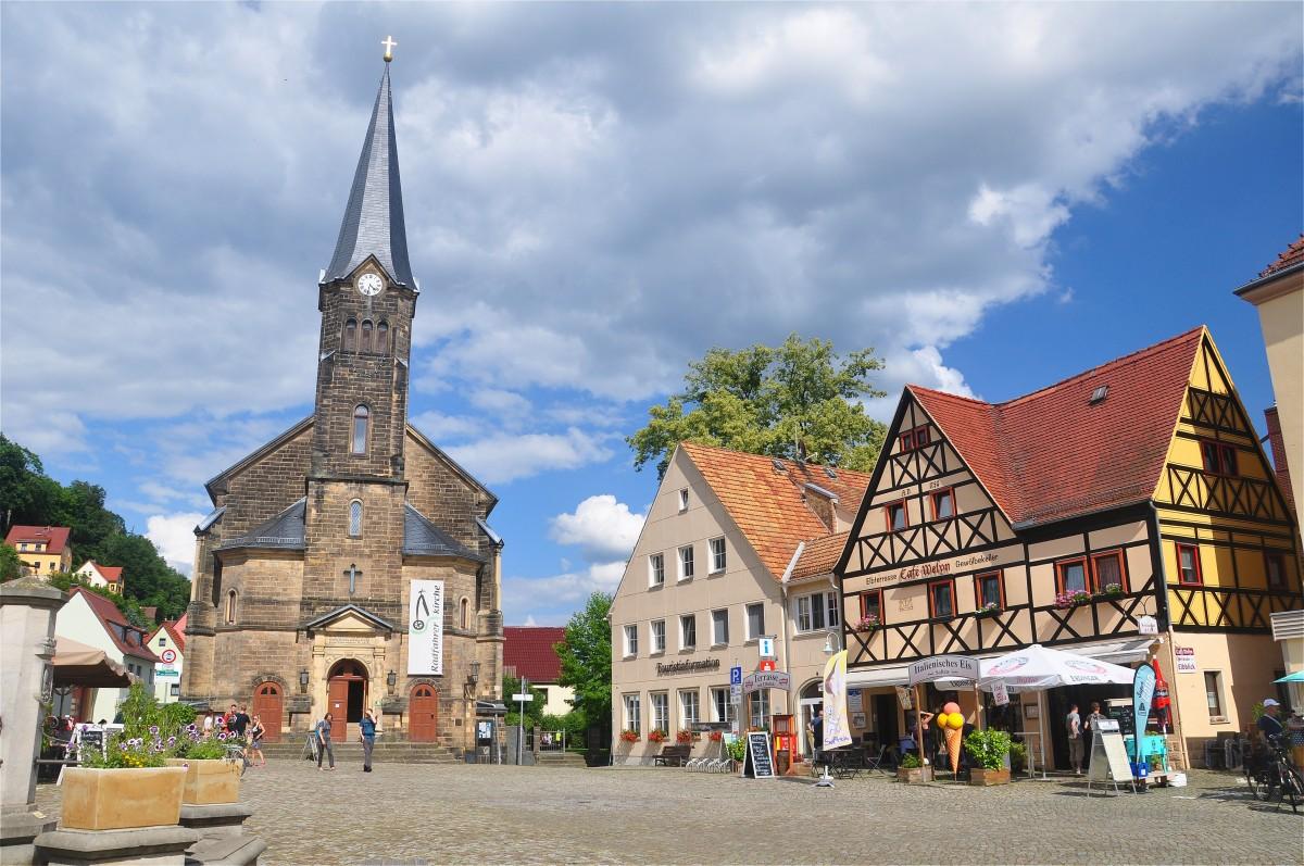 Zdjęcia: Stadt Wehlen, Saksonia, Na Rynku w Stadt Wehlen, NIEMCY