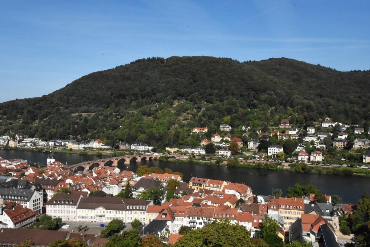 Zdjęcia: Heidelberg, Badenia Witenbergia, Heidelberg, widok na Neckar, NIEMCY