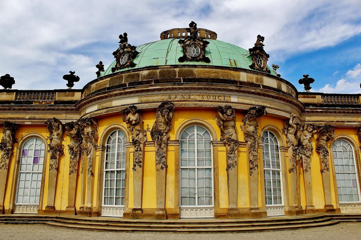 Zdjęcia: Poczdam, Brandenburgia, Pałac Sanssouci z 1747 roku, NIEMCY