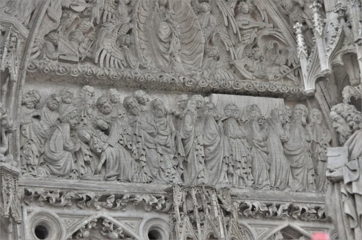 Zdjęcia: Regensburg, Bawaria, Regensburg, fragment portalu średniowiecznej katedry , NIEMCY