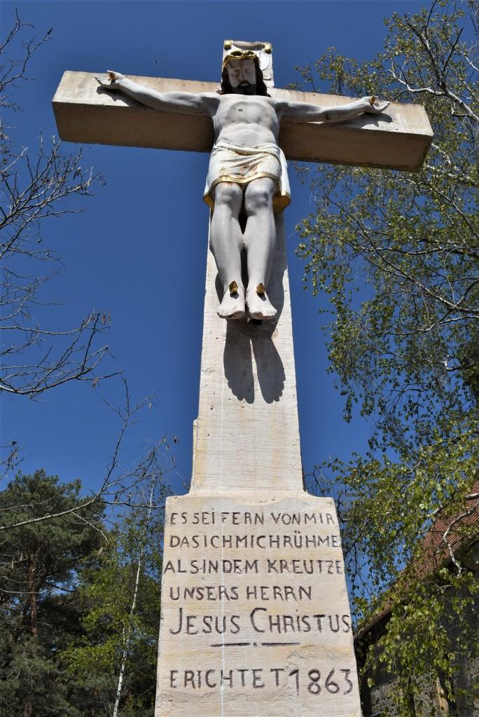 Zdjęcia: Maikammer, Nadrenia Pallatynat, Maikammer, krzyż na górze, NIEMCY