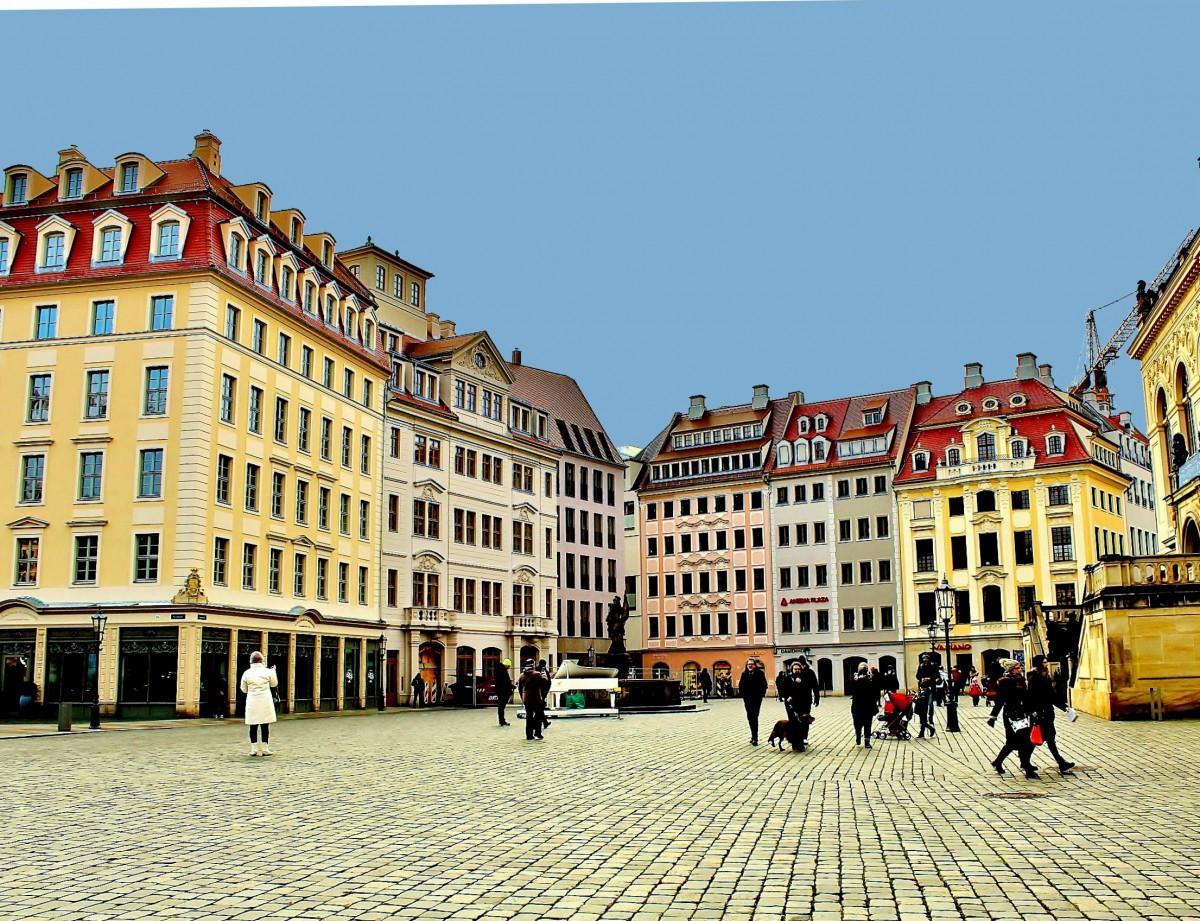 Zdjęcia: Drezno, Saksonia, Nowy Rynek, NIEMCY