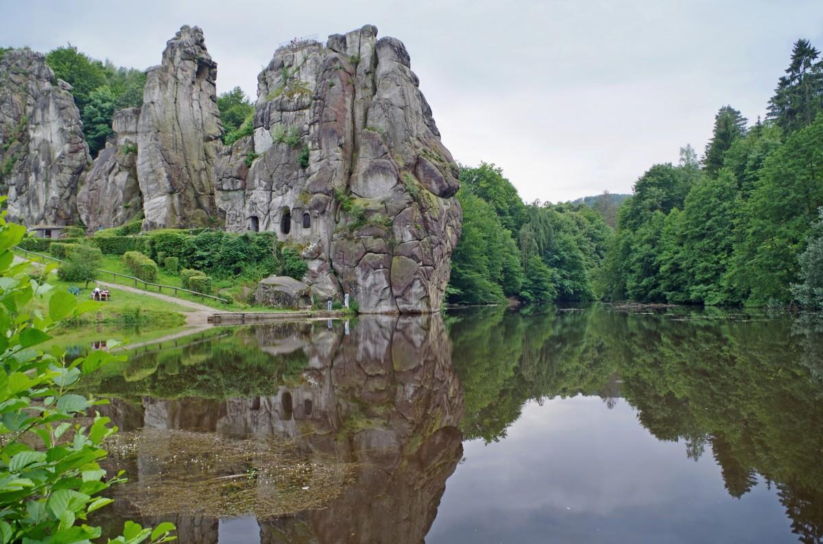 Zdjęcia: Horn-Bad Meinberg, Północna Nadrenia Westfalii, - Externsteine -, NIEMCY