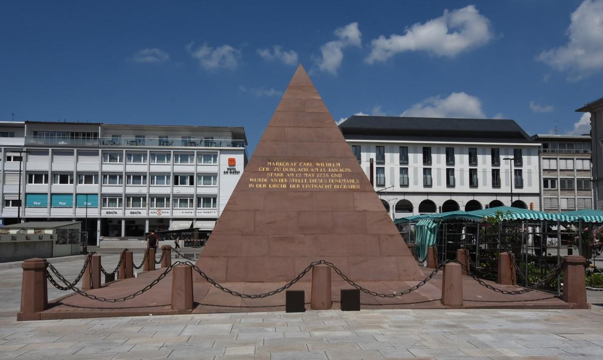Zdjęcia: Karlsruhe, Badenia Witenbergia, Karlsruhe, piramida, NIEMCY