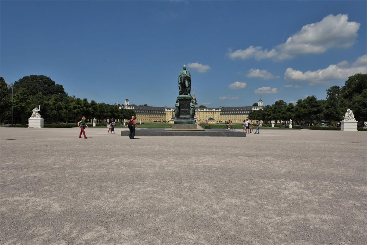 Zdjęcia: Karlsruhe, Badenia Witenbergia, Karlsruhe, Carl Friedrich Denkmal, NIEMCY