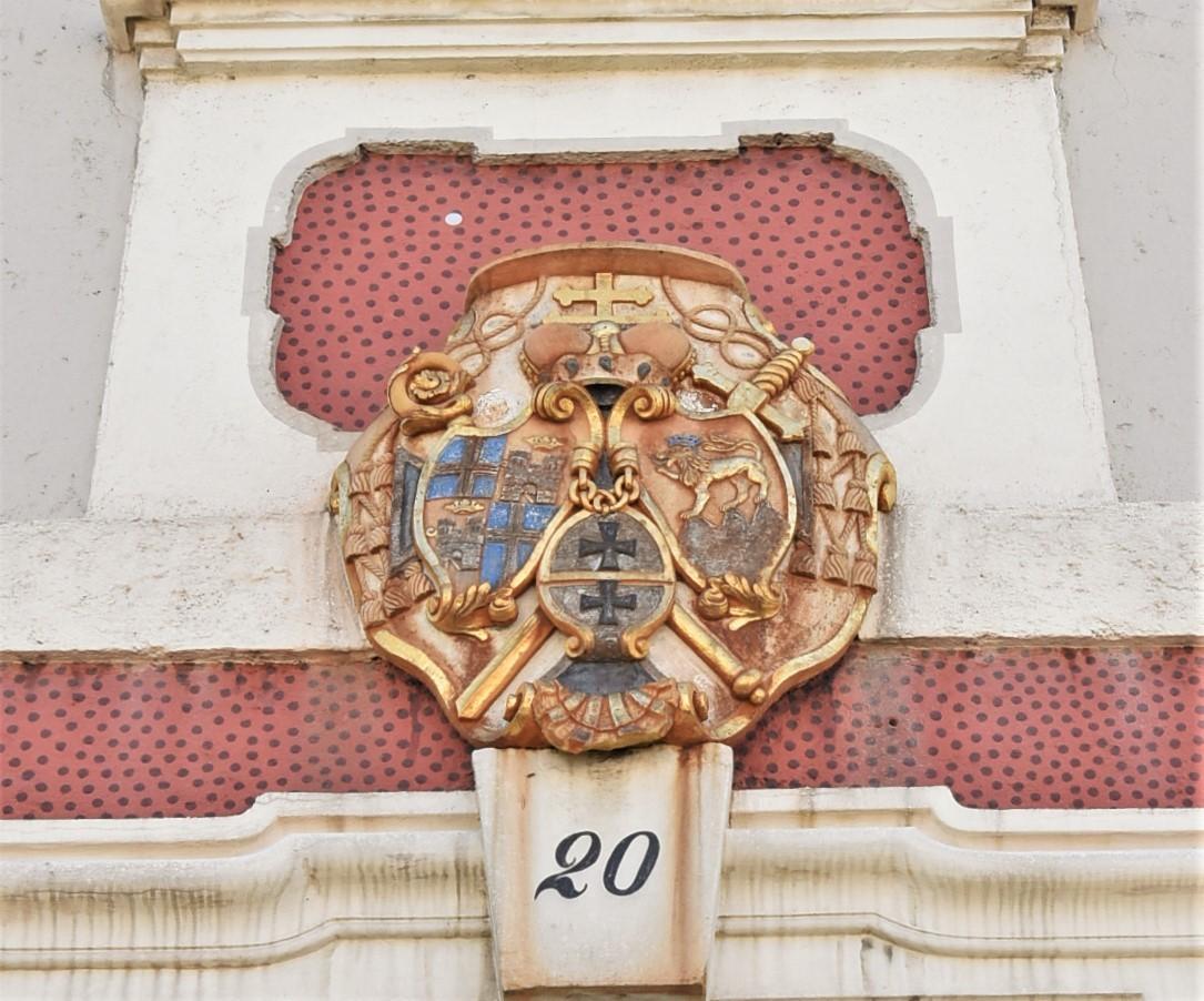 Zdjęcia: Bruchsal, Badenia Witenbergia, Bruchsal, Amtsgericht, piękny herb, NIEMCY