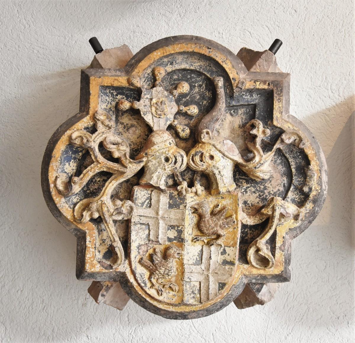 Zdjęcia: Bruchsal, Badenia Witenbergia, Bruchsal, Stadtkirche, zabytkowe zwornik, pięknie zdobiony. , NIEMCY