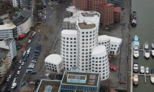 Zdjęcie NIEMCY / Dusseldorf / Wieża telewizyjna / Widok z wieży telewizyjnej