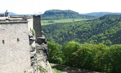 Zdjecie NIEMCY / Saksonia / Konigstein / widok z wysokich murów twierdzy