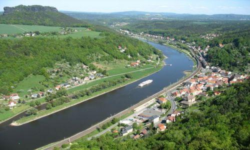 Zdjęcie NIEMCY / Saksonia / Konigstein / zakole Elby