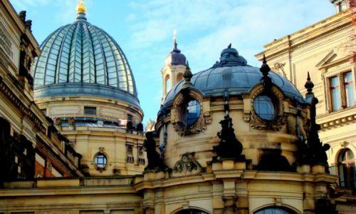 Zdjęcie NIEMCY / Saksonia / Drezno / Kopuły Akademii Sztuk Pięknych