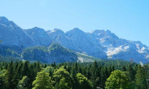Zdjęcie NIEMCY / bawaria / alpy / widok na Zugspitze 2963 npm